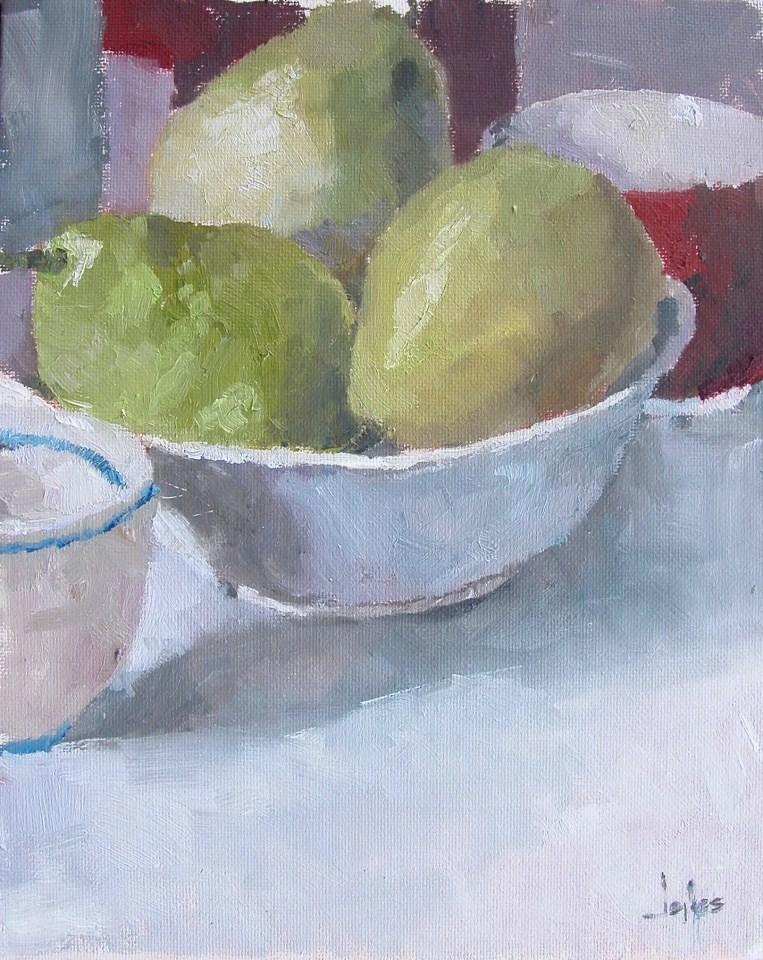 """Pears in Natural Light"" original fine art by Richard Jones"