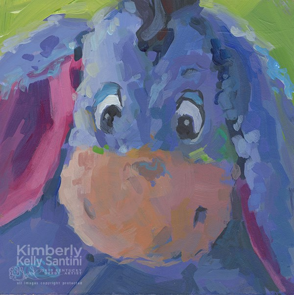 """Eeyore II, Toy #5"" original fine art by Kimberly Santini"
