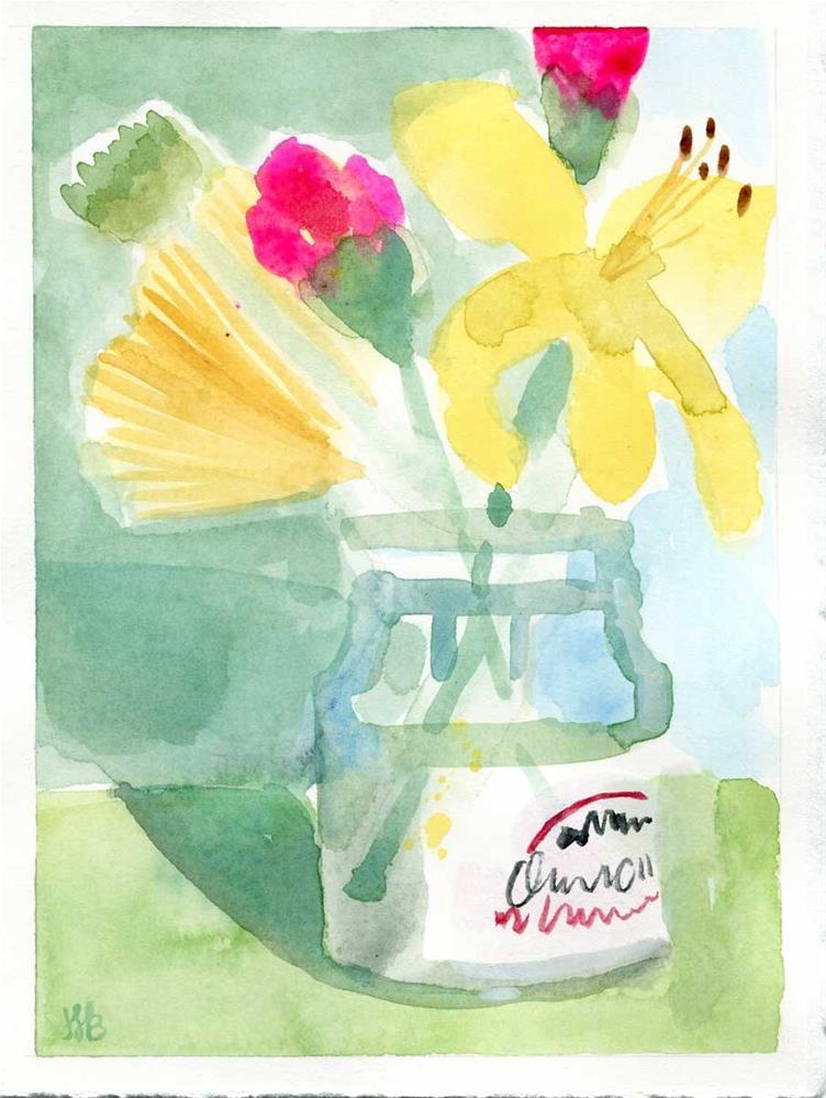 """""""Garden In A Jar No. 3"""" original fine art by Heather Bennett"""