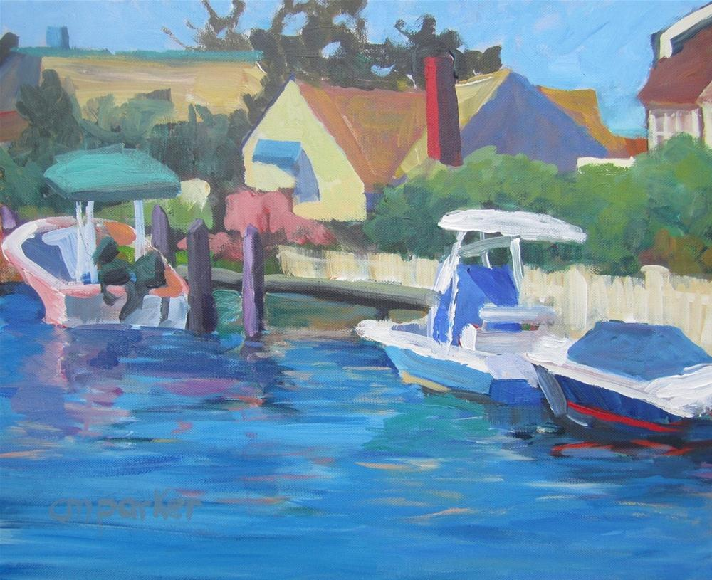 """Lagoon"" original fine art by Christine Parker"