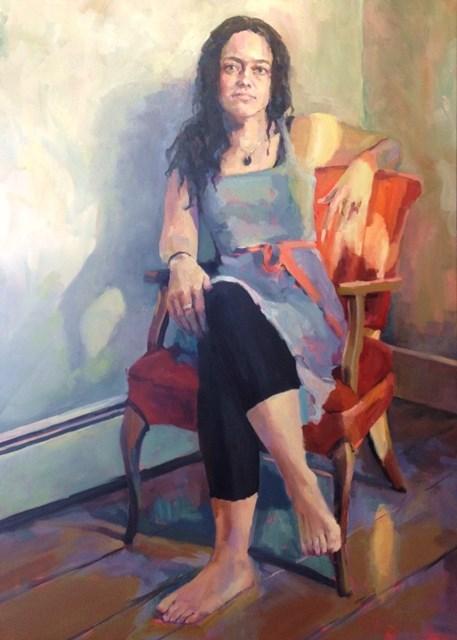 """""""Red Chair"""" original fine art by Katie Wilson"""