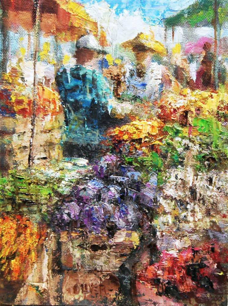 """Farmers Market #15"" original fine art by Julie Ford Oliver"