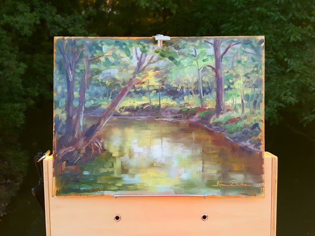 """Flowing into East Creek"" original fine art by Tammie Dickerson"