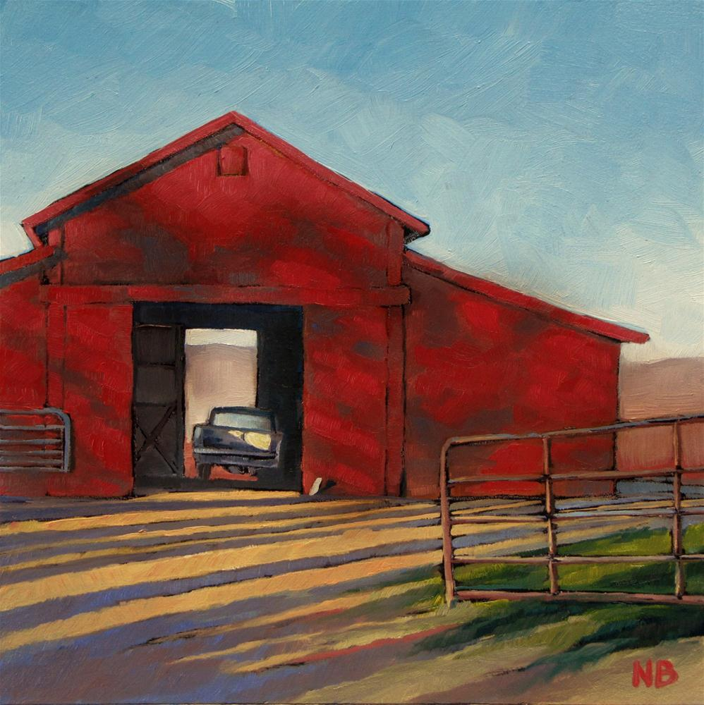 """Drive-Thru Lane"" original fine art by Nora Bergman"