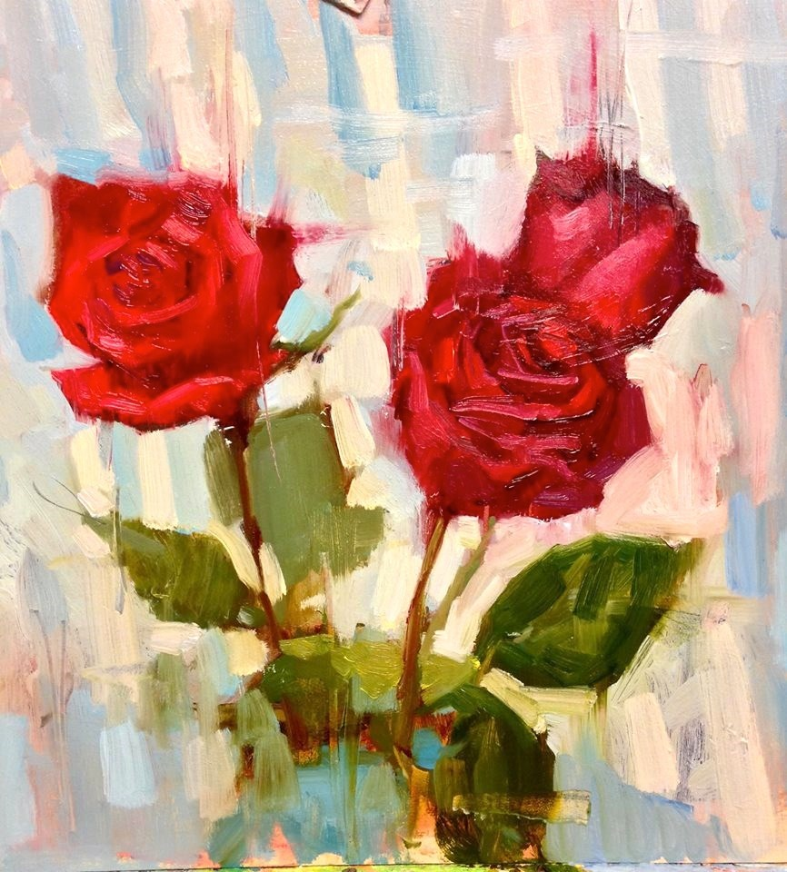"""Roses are Roses"" original fine art by Emiliya Lane"