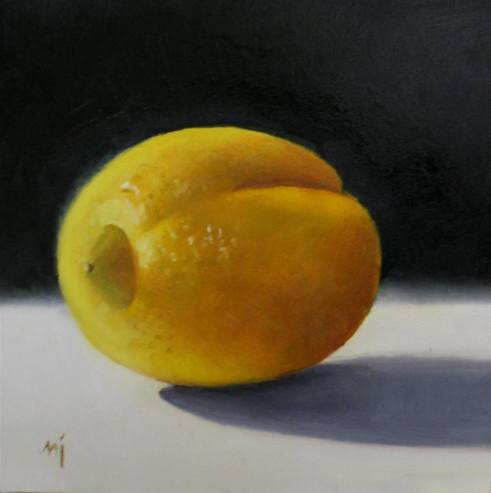 """Lemon with Crease"" original fine art by Nel Jansen"