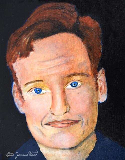"""""""Conan O'Brien"""" original fine art by Katie Jeanne Wood"""