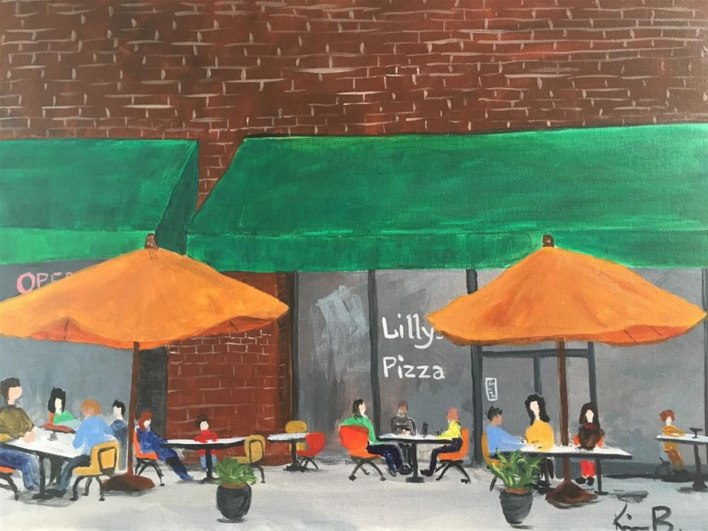 """Lilly's Pizza - #4 30in30"" original fine art by Kimberly Balentine"