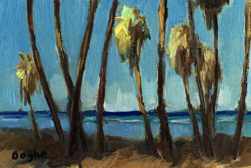 """Beach Palms"" original fine art by Angela Ooghe"