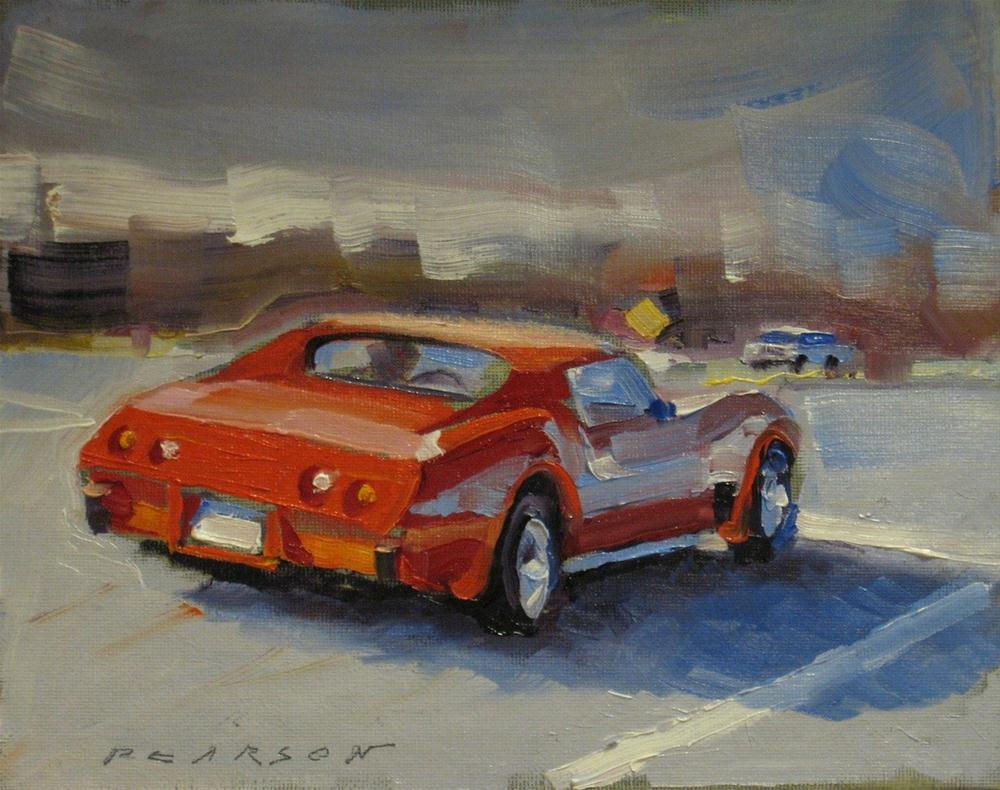 """T-Top Vette"" original fine art by Dennis Pearson"