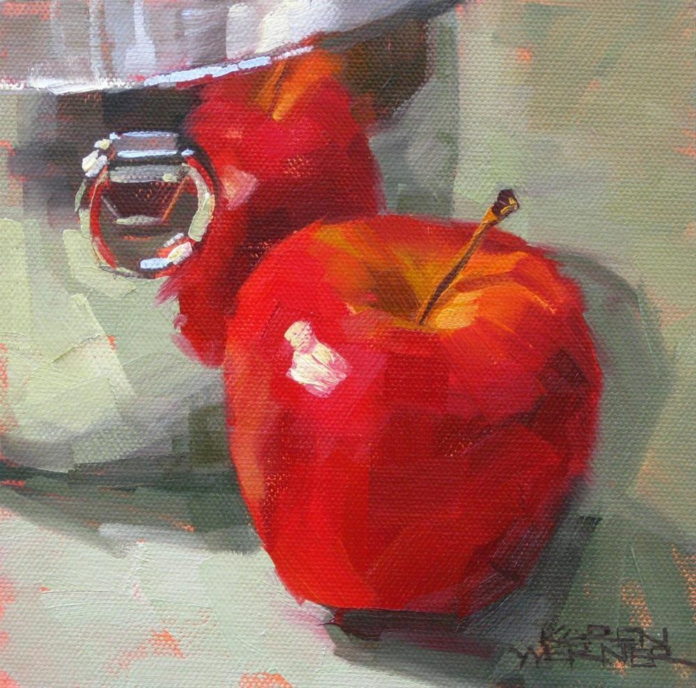 """""""Reflecting Red"""" original fine art by Karen Werner"""