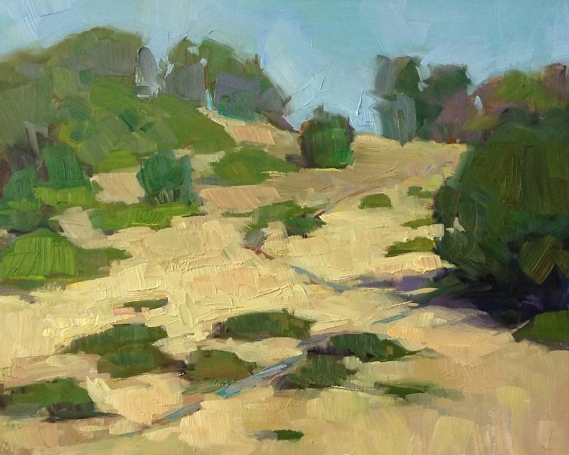 """Sunny Swing Hill"" original fine art by Patti McNutt"