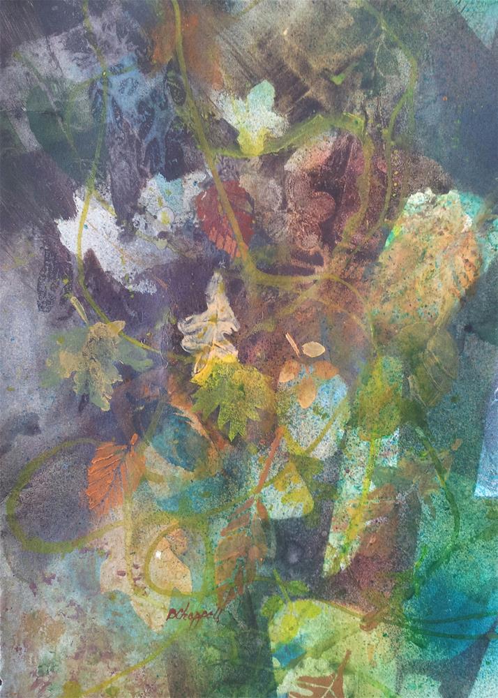 """Falling"" original fine art by Becky Chappell"
