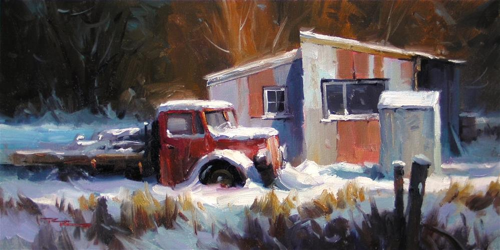"""Snowed In"" original fine art by Richard Robinson"