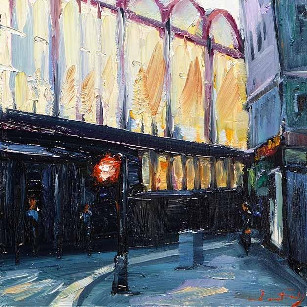 """Train Station"" original fine art by Jurij Frey"