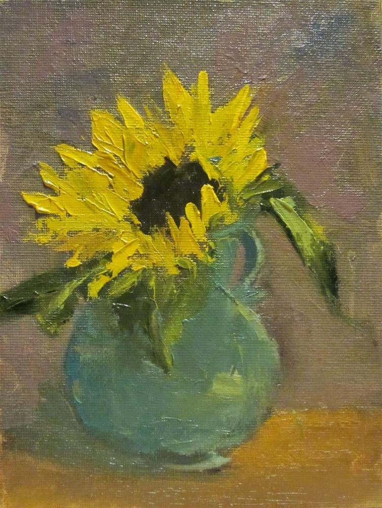 """Sunflower, DP #19"" original fine art by Carol Wiley"