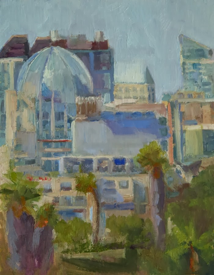 """San Diego - New Library"" original fine art by Katharine Engh"