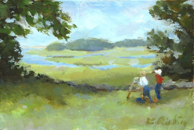 """Artists in Summer"" original fine art by Keiko Richter"