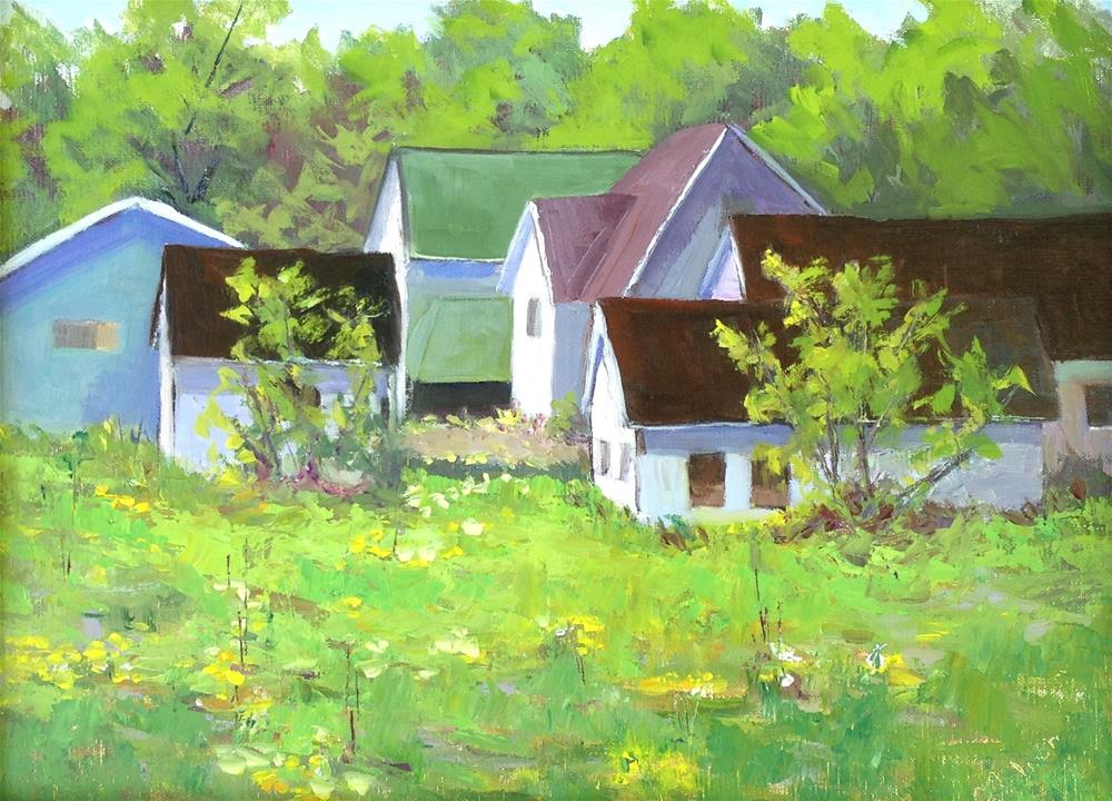 """Edge of Town"" original fine art by Judith Anderson"