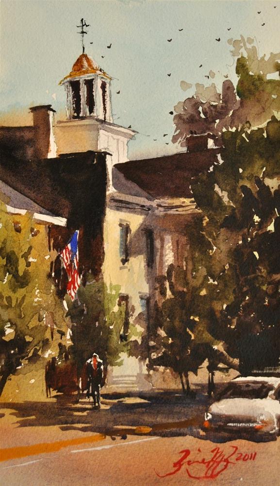 """Wellsboro City Hall"" original fine art by Brienne M Brown"