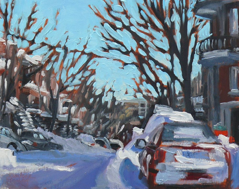 """562 Matin d'Hiver Montreal"" original fine art by Darlene Young"