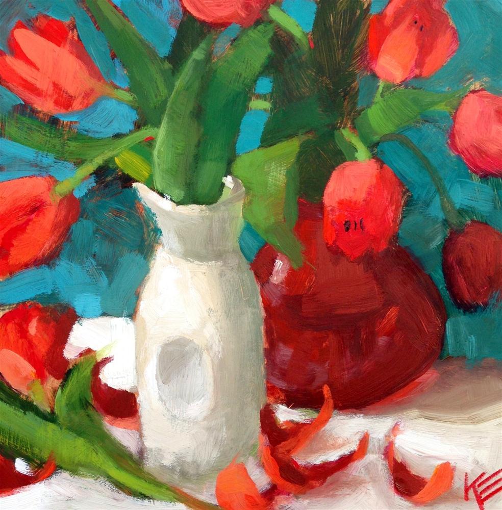 """Petals II"" original fine art by Krista Eaton"
