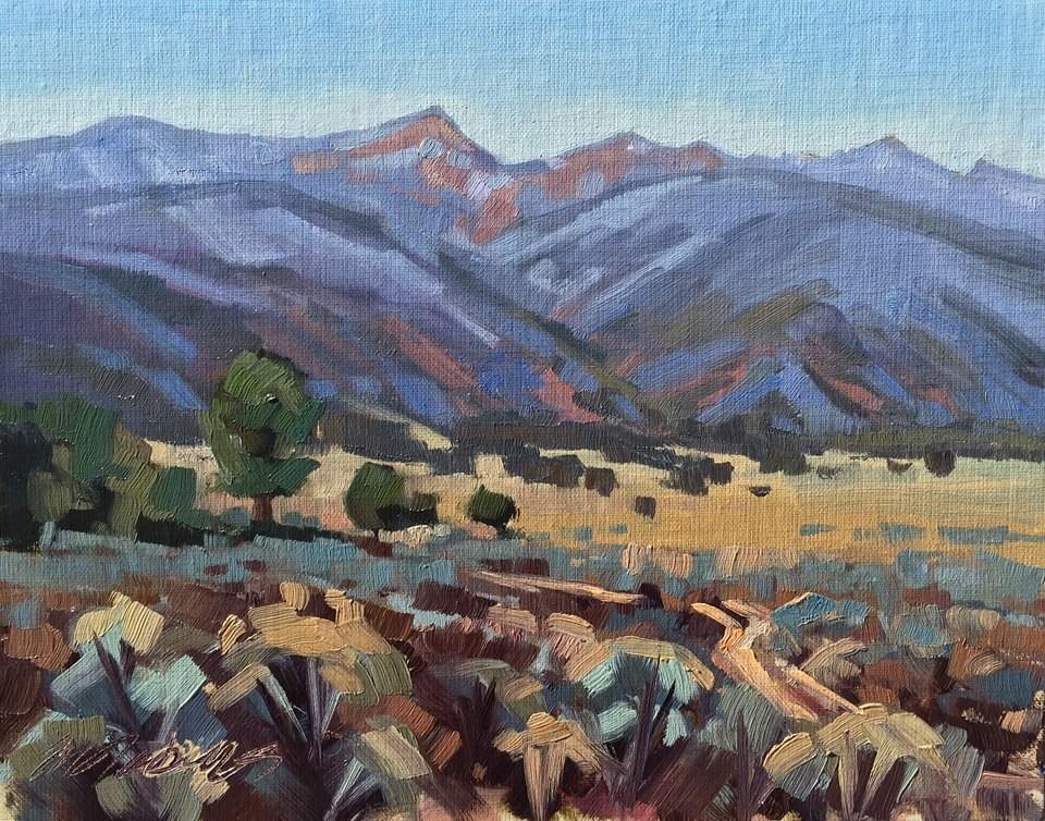 """Snow on the Kannaraville Range"" original fine art by Mary Jabens"
