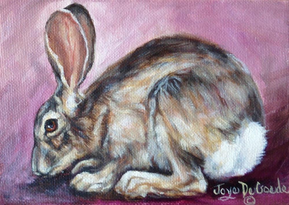 """""""Not My Rabbit by Joye DeGoede"""" original fine art by Joye DeGoede"""