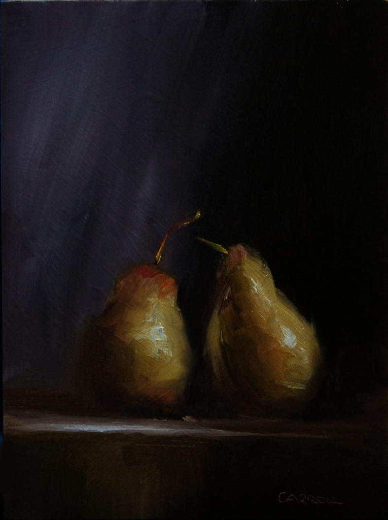 """Two Pears"" original fine art by Neil Carroll"