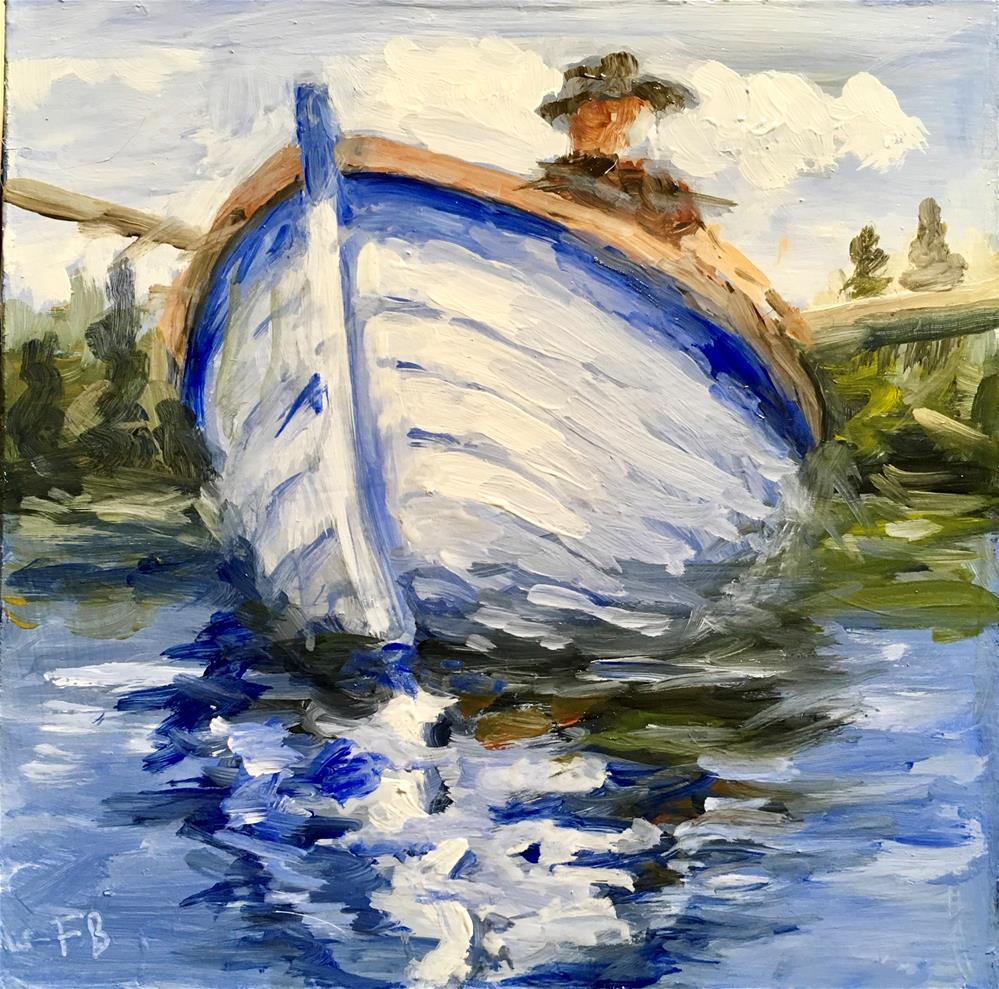 """109 Rowboat"" original fine art by Fred Bell"