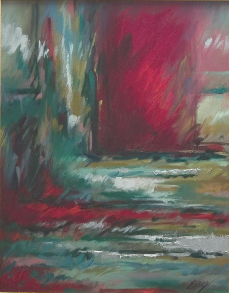 """Red Door"" original fine art by Linda Eades Blackburn"