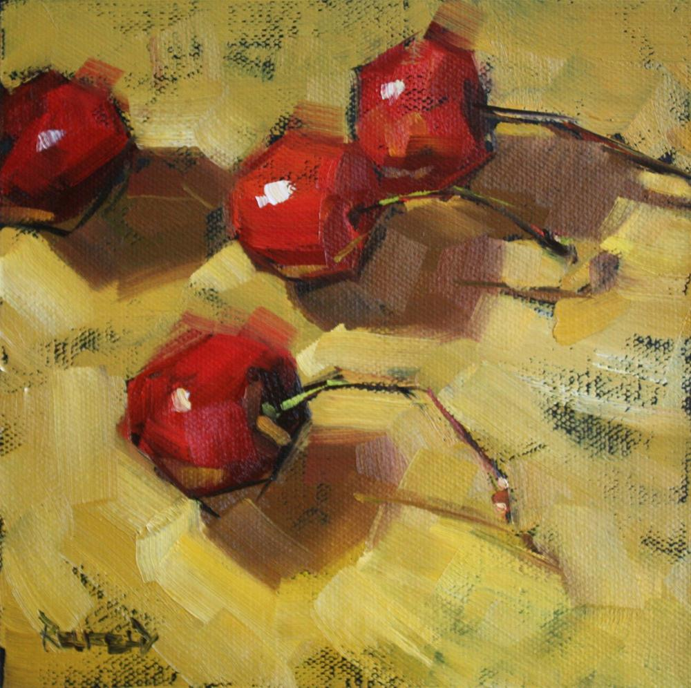 """Cherries on Curry"" original fine art by Cathleen Rehfeld"