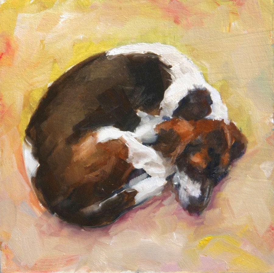 """""""Lost Dog IIII"""" original fine art by Clair Hartmann"""