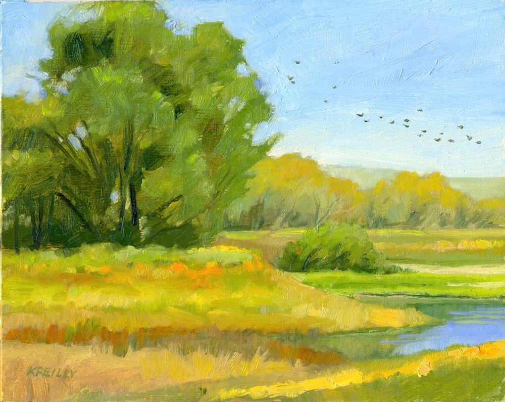 """""""Autumn in Waiting"""" original fine art by Kath Reilly"""