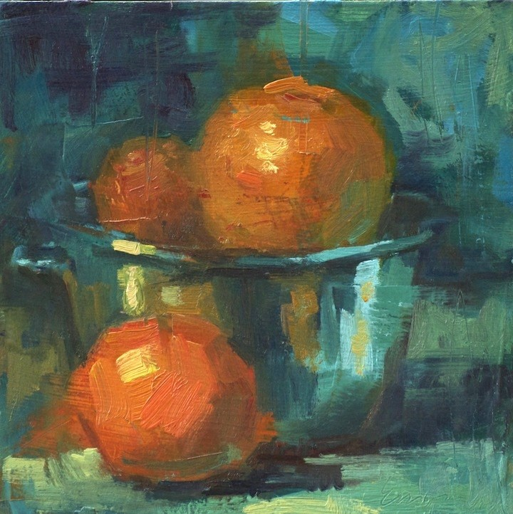 """Spilling Oranges"" original fine art by Emiliya Lane"