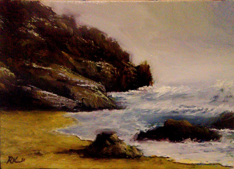 """Morning Waves"" original fine art by Bob Kimball"