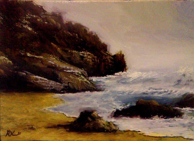 """Morning Waves"" original fine art by Bob Kimball"
