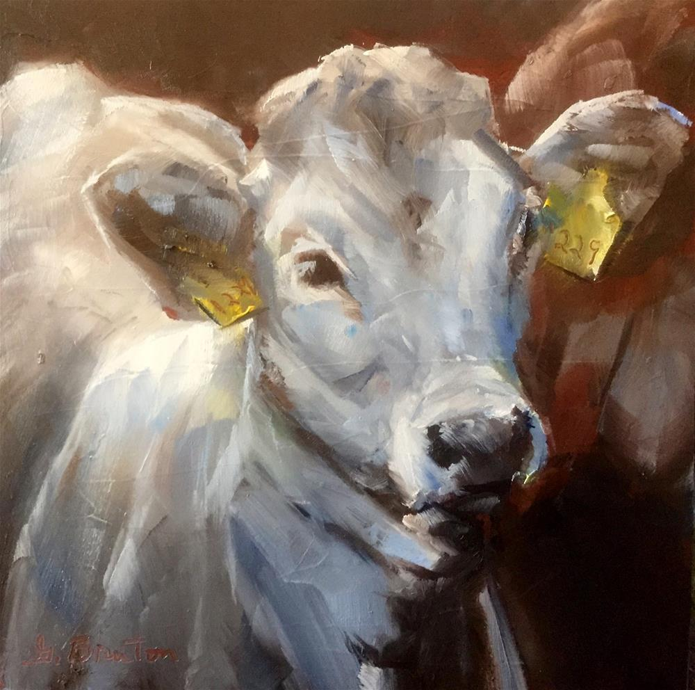 """Cattle Call"" original fine art by Gary Bruton"