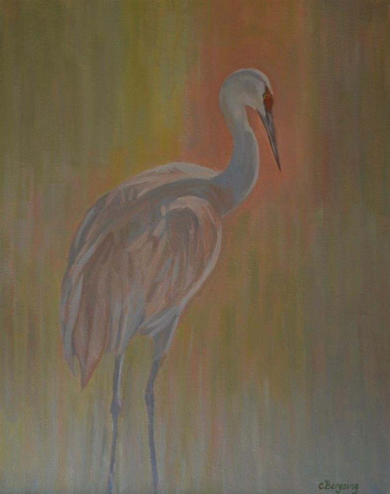 """Sandhill Crane"" original fine art by Cathy Bergsing"