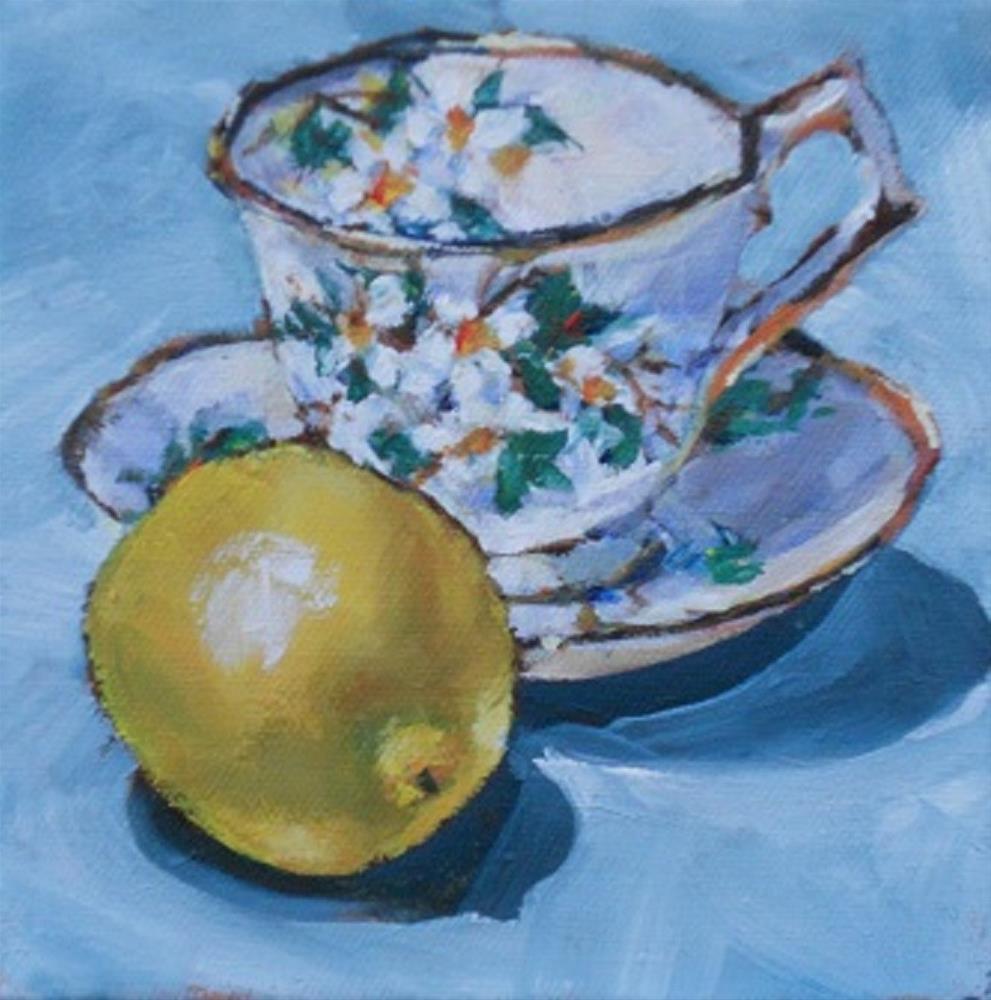 """Tea With Lemon"" original fine art by Susan Baker"