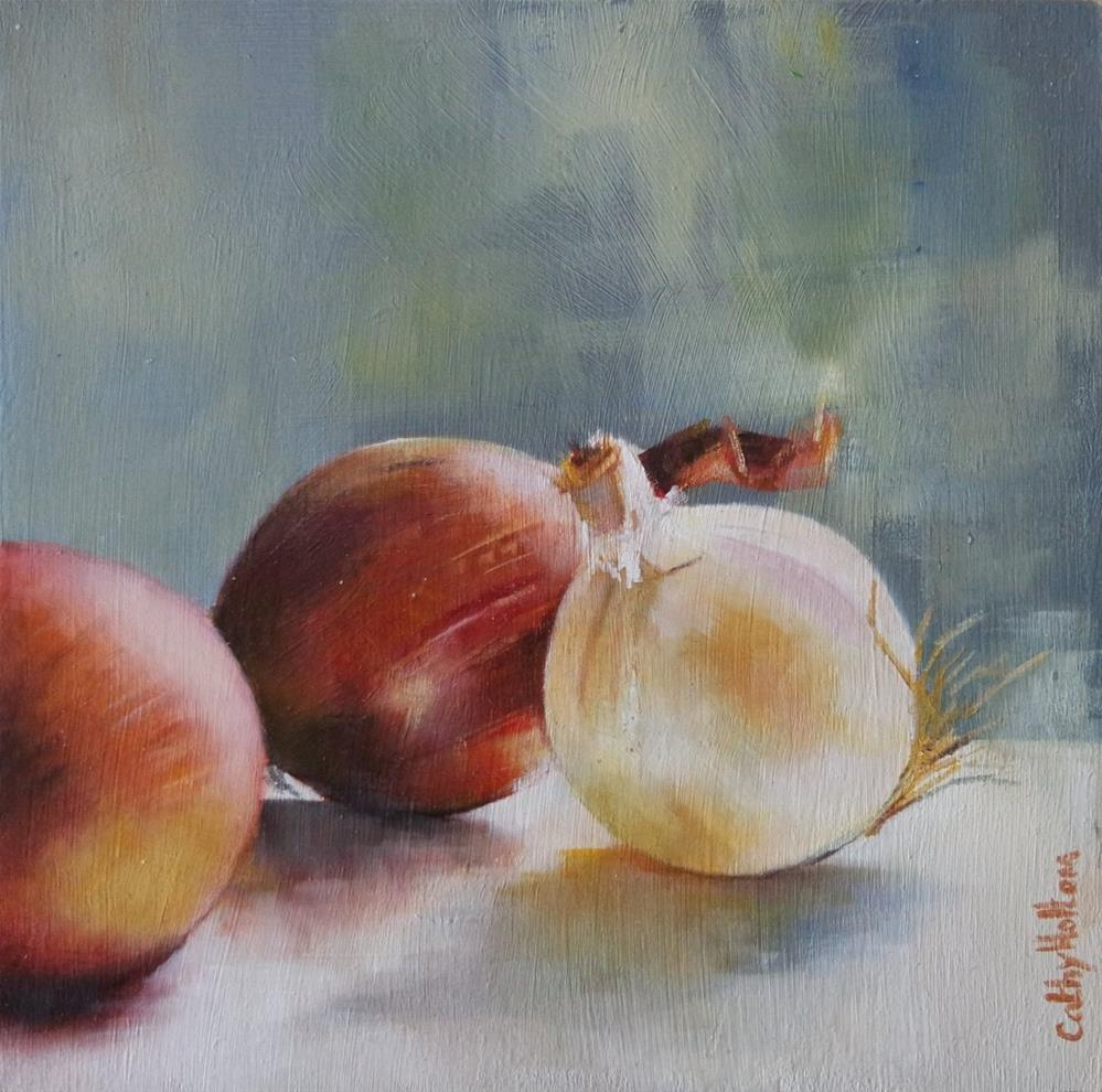 """""""Cipolle"""" original fine art by Cathy Holtom"""