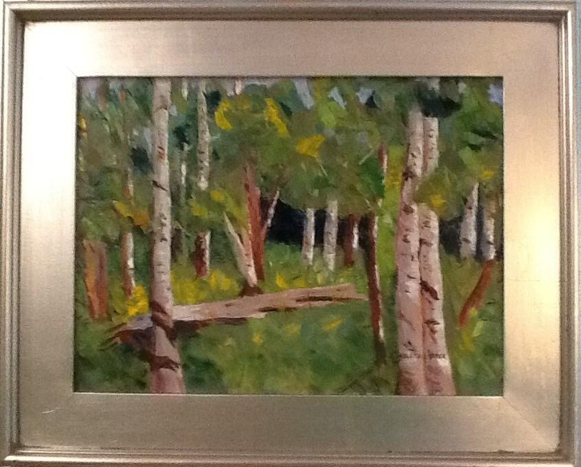 """IF A TREE FALLS"" original fine art by Charlotte Bankhead Hedrick"