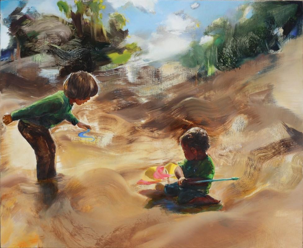 """Brothers"" original fine art by Eszter Szicso"