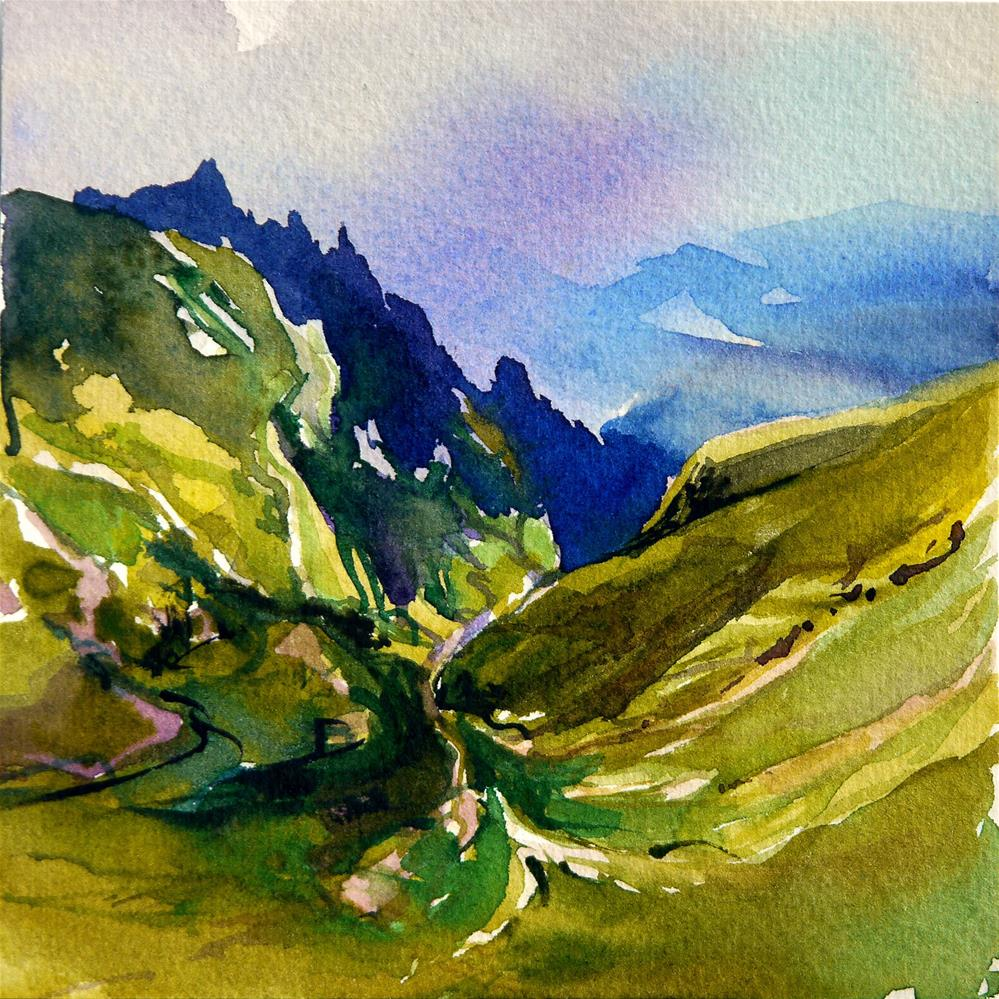 """green valley"" original fine art by Beata Musial-Tomaszewska"