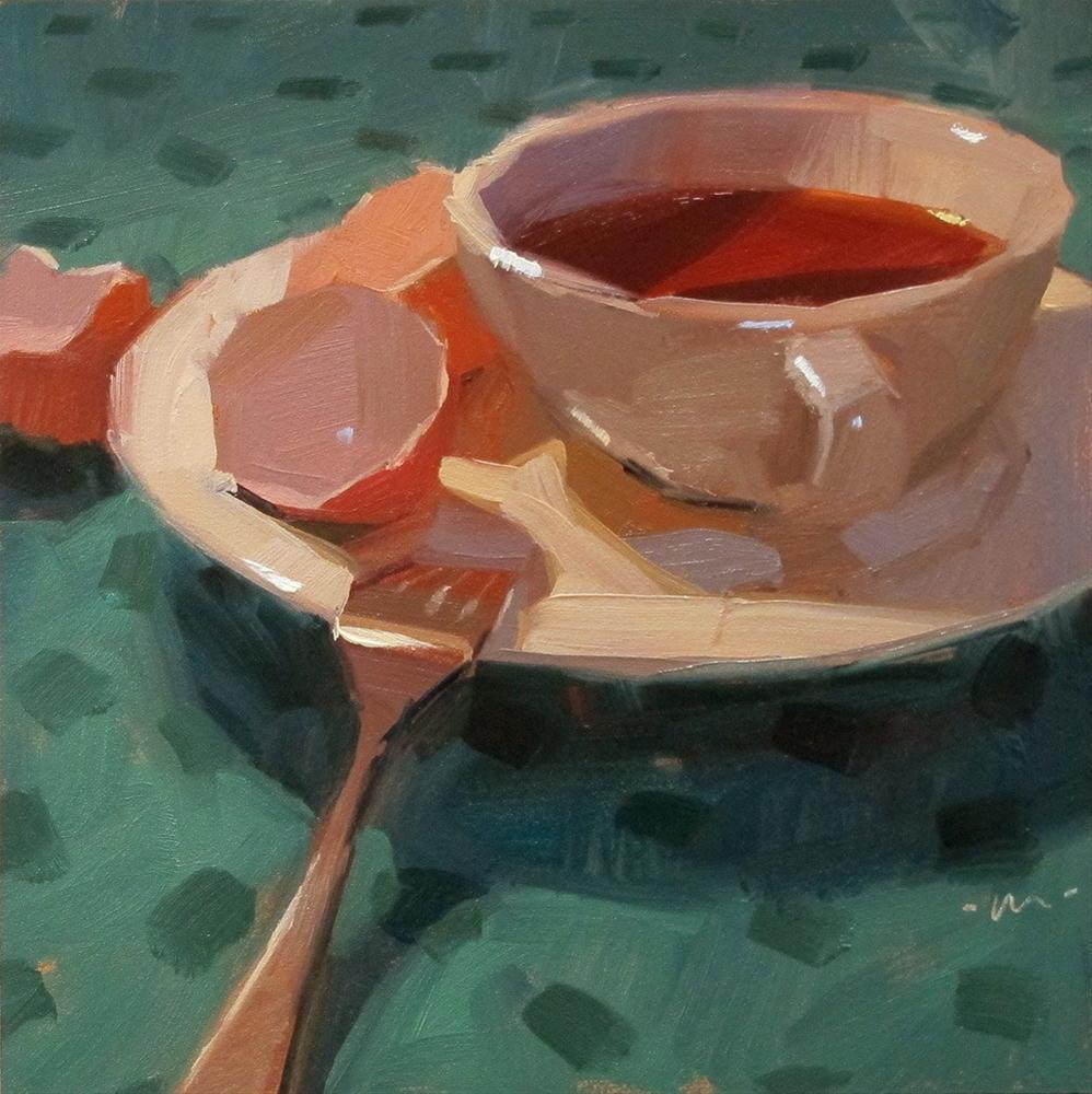 """After Breakfast Blues"" original fine art by Carol Marine"