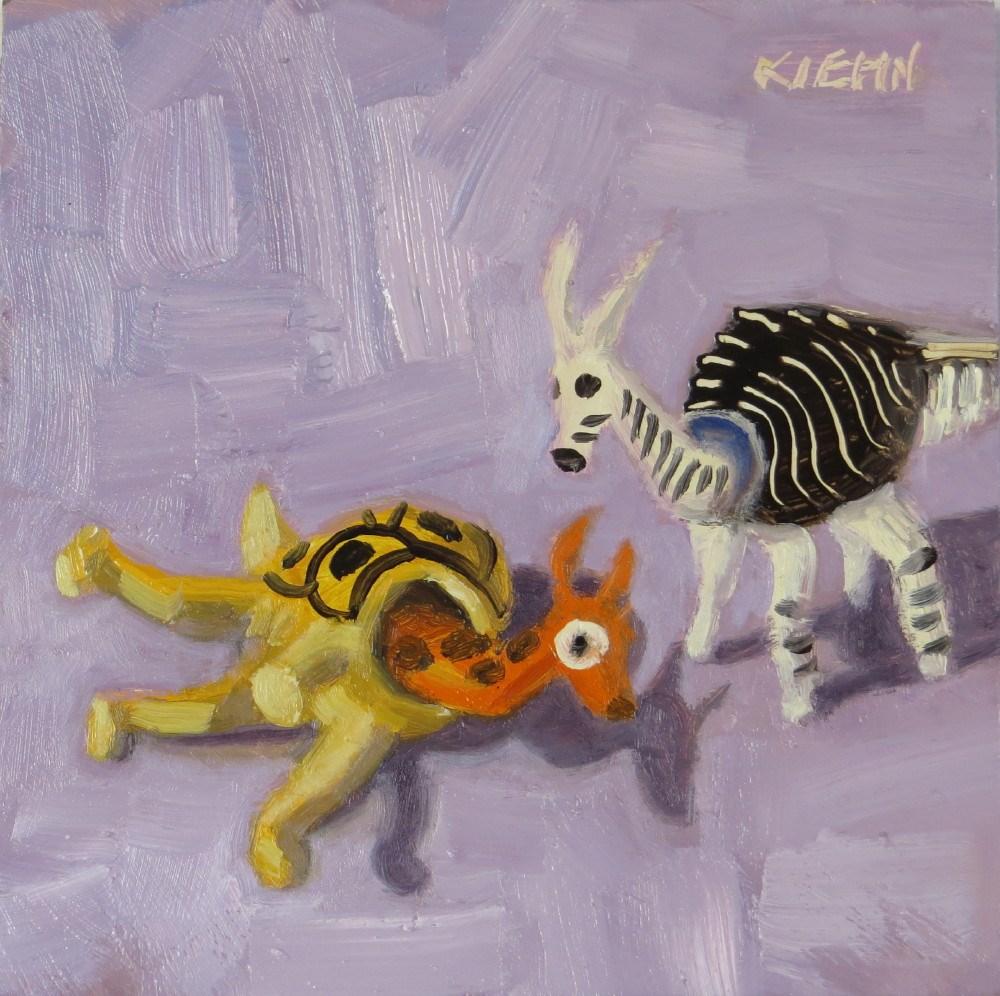 """I've Fallen & I Can't Giddy Up"" original fine art by Richard Kiehn"