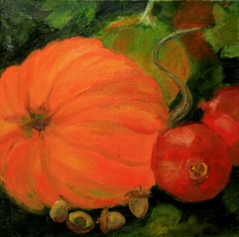 """""""Autumn Garden"""" original fine art by Jean Nelson"""