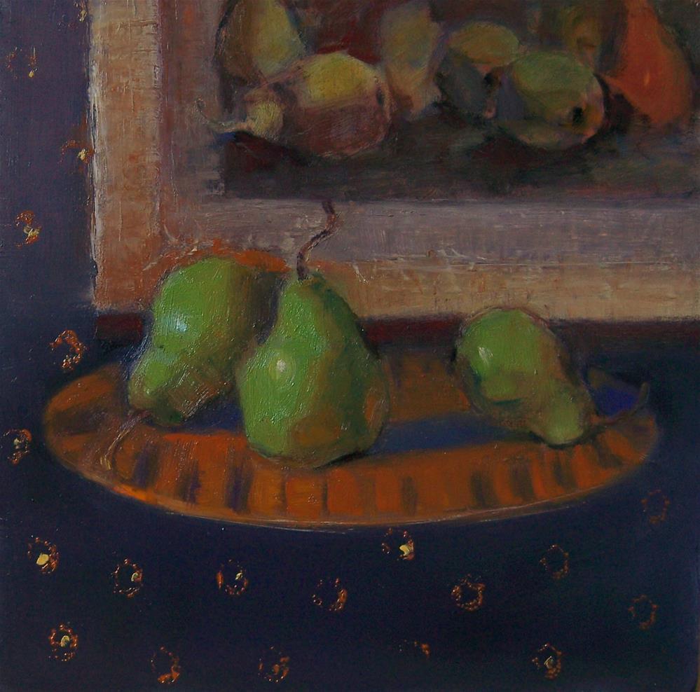 """3 Pears"" original fine art by Kim Roberti"