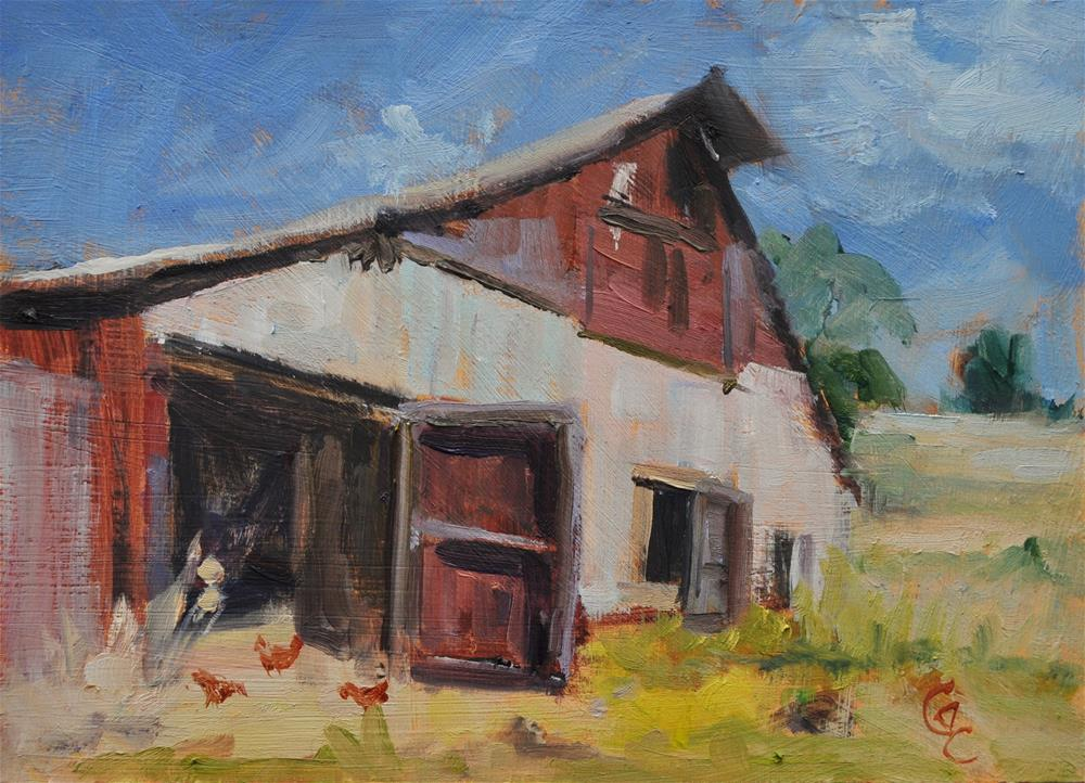 """Old Barn Challenge"" original fine art by Catherine Crookston"