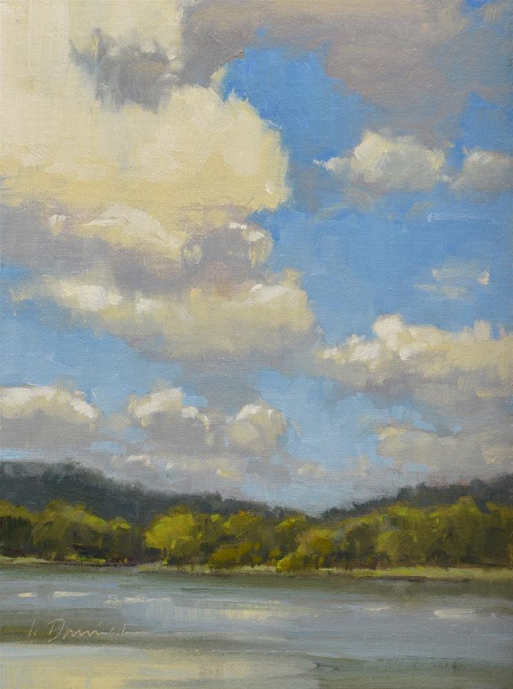 """High Clouds"" original fine art by Laurel Daniel"